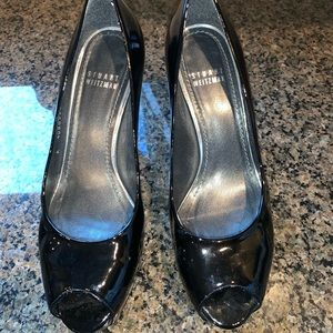 Stuart Weitzman Patent Leather Peep Toe Heel